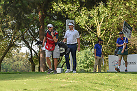 Ian Poulter (GBR) throws water on his caddie as they head down 16 during round 3 of the World Golf Championships, Mexico, Club De Golf Chapultepec, Mexico City, Mexico. 2/23/2019.<br /> Picture: Golffile | Ken Murray<br /> <br /> <br /> All photo usage must carry mandatory copyright credit (© Golffile | Ken Murray)