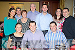 Pictured at the An Post Christmas Party on Saturday night, front l-r: Vivienne O'Shea, Ger O'Brien, Danny Roche. Back l-r: Irene O'Connor, Christy Counihan, Norma O'Reilly, Eddie O'Reilly, Shane Coakley, Grainne Joy and John Joy.