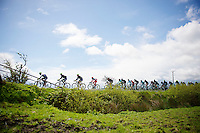 peloton paced by Team Orica-GreenEdge<br /> <br /> Giro d'Italia 2014<br /> stage 3: Armagh - Dublin 187km
