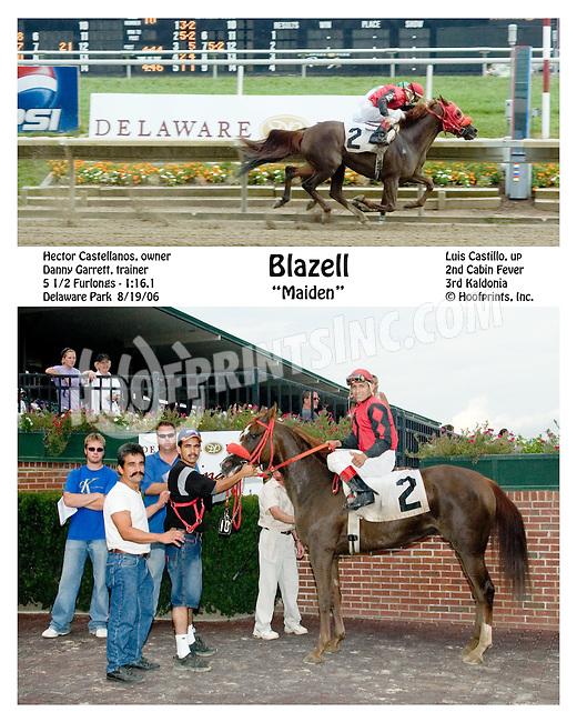 Blazell winning at Delaware Park on 8/19/06