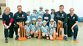 This image is free to use - A brand new coaching programme aims to turn cricket into one of Scotland's mainstream sports. Launched this week, All Stars Cricket aims to inspire five to eight year old children to take up the sport through a fun first experience of the game. The Cricket Scotland eight week programme begins in May and will see participating boys and girls develop their skills and make new friends in a safe and inclusive environment at one of the 50+ Scottish cricket clubs who have signed up to host and run the sessions. Registration is open from today with each child receiving a pack of cricket goodies including a cricket bat, ball, backpack, water bottle, personalised shirt and cap to keep so that they can continue their love of cricket when they go home. There will also be a chance for youngsters to meet current Scotland international players as part of All Stars Cricket, which will be led by fully trained and vetted activators at each club - picture shows some young fun cricketers at Mary Erskine School, Edinburgh with (l to r) Nicola Wilson (Cricket Scotland Womens Participation Manager), Grant Bradburn (Scotland Head Coach), George Munsey (Scotland International player) and Kirsty Openshaw (Cricket Scotland Development Officer) — for further information please contact Ben Fox, Media Manager, Cricket Scotland on 07825 172 348 or at benfox@cricketscotland.com - - picture by Donald MacLeod - 20.03.2017 - 07702 319 738 - clanmacleod@btinternet.com - www.donald-macleod.com