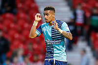 Paris Cowan-Hall of Wycombe Wanderers during the Sky Bet League 2 match between Doncaster Rovers and Wycombe Wanderers at the Keepmoat Stadium, Doncaster, England on 29 October 2016. Photo by David Horn.