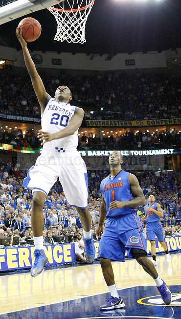 UK guard Doron Lamb makes a layup during the second half in the 2012 SEC Tournament game between Kentucky and Florida, played at New Orleans Arena, on 3/10/12.  Photo by Quianna Lige | Staff