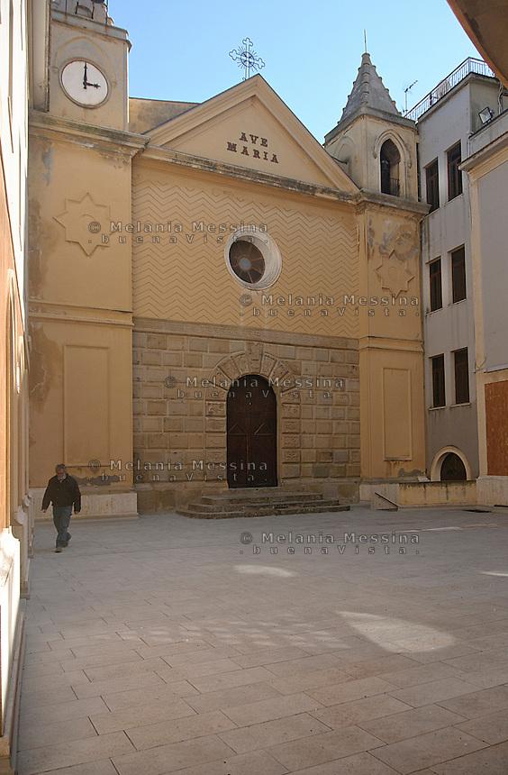 Santuario di Tindari, prospetto dell'antico santuario.<br /> Tindari sanctuary:fa&ccedil;ade of the old Sanctuary