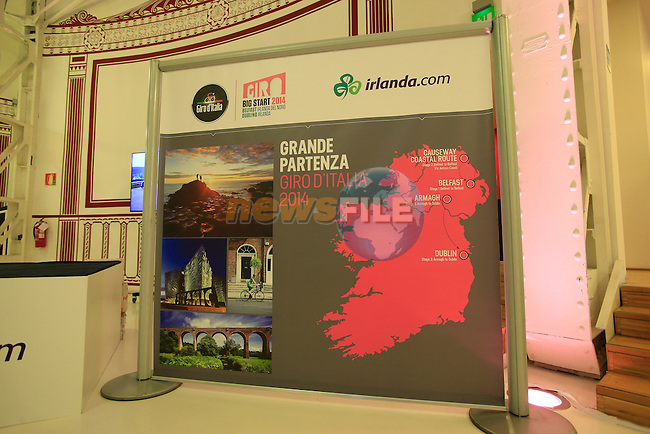 Giro Ireland stand at the 2014 Giro d'Italia Presentation held in the Palazzo del Ghiaccio in Milan, Italy. 7th October 2013.<br /> (Photo: Eoin Clarke/www.newsfile.ie)