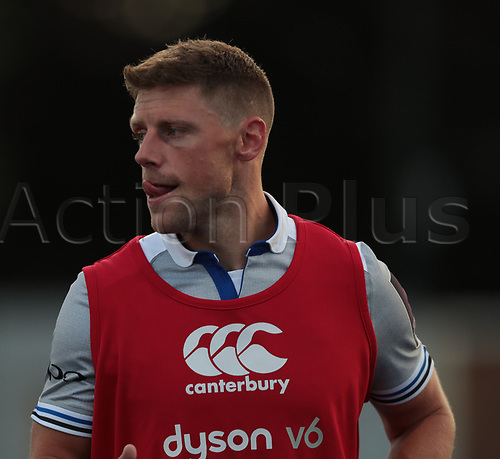 25th August 2017, Donnybrook Stadium, Dublin, Ireland; Pre Season Rugby Friendly; Leinster Rugby versus Bath Rugby; Rhys Priestland (Bath) during warm up