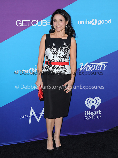 "Julia Louis-Dreyfus attends unite4:good and Variety presentation ""unite4:humanity"" Celebrating Good, Giving and Greatness Around the Globe held at Sony Picture Studios in Culver City, California on February 27,2014                                                                               © 2014 Hollywood Press Agency"