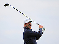 Brooks Koepka (USA) on the 17th tee during Round 4 of the 2015 Alfred Dunhill Links Championship at the Old Course in St. Andrews in Scotland on 4/10/15.<br /> Picture: Thos Caffrey | Golffile
