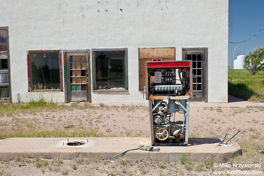 Abandoned Gas Station in Genoa, CO