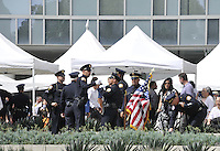 LOS ANGELES, CA - JULY 08: Los Angeles Police Graduation during the UNITY Protest Mach at the Los Angeles Police Department in Downtown Los Angeles on July 8, 2016 in Los Angeles, California. Credits: Koi Sojer/Snap'N U Photos/MediaPunch