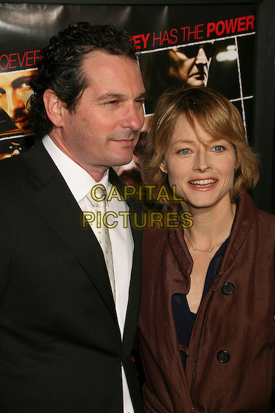 "SCOTT FRANK & JODIE FOSTER.""The Lookout"" Los Angeles Premiere at Grauman's Egyptian Theatre, Hollywood, California , USA..March 20th, 2007.half length black suit jacket director .CAP/ADM/BP.©Byron Purvis/AdMedia/Capital Pictures"