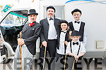 Tralee to Waterville to help break a record picture here with Chaplin Impersonator Charlie Pakdel were l-r; Eddie Mosterson, Mia Turner, Siún & Conor O'Brien.