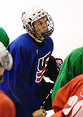 Jeremy Morin (US Blue - 21) - US players take part in practice on Friday morning, August 8, 2008, in the NHL Rink during the 2008 US National Junior Evaluation Camp and Summer Hockey Challenge in Lake Placid, New York.