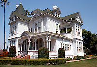 San Diego: Peter Britt House, 406 Maple. 3/4 elevation. Queen Anne Victorian, 1889. Photo '80.