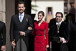 Spanish Royals King Felipe VI of Spain and Queen Letizia of Spain attend `2014 Cervantes Award´ at Alcala de Henares University in Alcala de Henares, Spain. April 23, 2015. (ALTERPHOTOS/Victor Blanco)