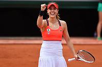 Alize Cornet (Fra) def Agnieszka Radwanska (pol)<br /> Tennis Roland Garros 2017 <br /> Foto Antoine Couvercelle / Panoramic / Insidefoto <br /> ITALY ONLY