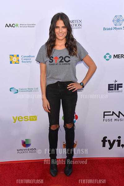SANTA MONICA, CA. September 07, 2018: Karla Souza at the 2018 Stand Up To Cancer fundraiser at Barker Hangar, Santa Monica Airport.