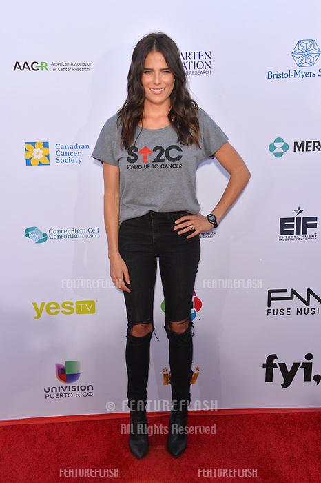 SANTA MONICA, CA. September 07, 2018: Karla Souza at the 2018 Stand Up To Cancer fundraiser at Barker Hangar, Santa Monica Airport.