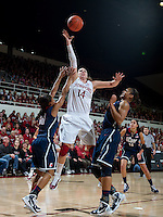 STANFORD CA-DECEMBER 30, 2010: Kayla Pedersen during the Stanford 71-59 victory over UCONN at Maples Pavilion.