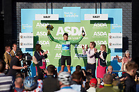 Picture by SWpix.com - 04/05/2018 - Cycling - 2018 Tour de Yorkshire - Stage 2: Barnsley to Ilkley - Yorkshire, England - Canyon Eisberg's Harry Tanfield takes the Asda Points Classification jersey.