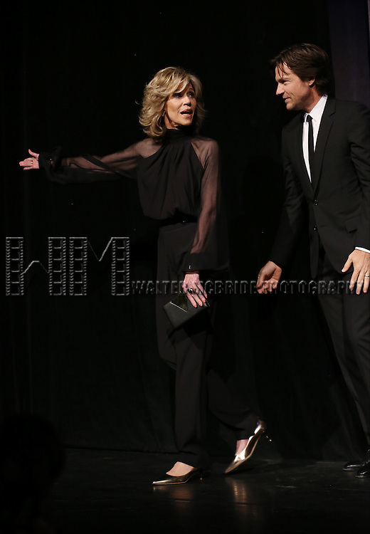 Jane Fonda and Jason Bateman during the presentation of 'This Is Where I Leave You'  at the 2014 Toronto International Film Festival at the Roy Thomson Hall on September 7, 2014 in Toronto, Canada.