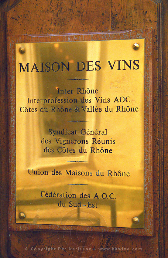 Maison des Vins, the wine office. Avignon. Rhone Valley, France