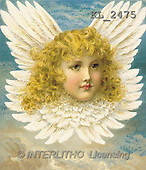 Interlitho, CHRISTMAS SANTA, SNOWMAN, nostalgic, paintings, angel, clouds(KL2475,#X#) Weihnachten, nostalgisch, Navidad, nostálgico, illustrations, pinturas