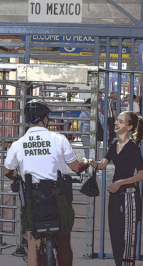 THANKS, COME AGAIN ?<br /> JUST A INTERESTING SCENE AT THE US MEXICO BORDER CROSSING IN NOGALES, ARIZONA WHERE ILLEGAL CROSSERS ARE REPATRIATED EVERY DAY.