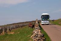 tourist bus vineyard dezize les maranges santenay cote de beaune burgundy france
