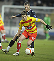 11/01/2011   Copyright  Pic : James Stewart.sct_jsp009_falkirk_v_partick_th   .:: SIMON DONNELLY HOLDS OFF BURTON O'BRIEN ::.James Stewart Photography 19 Carronlea Drive, Falkirk. FK2 8DN      Vat Reg No. 607 6932 25.Telephone      : +44 (0)1324 570291 .Mobile              : +44 (0)7721 416997.E-mail  :  jim@jspa.co.uk.If you require further information then contact Jim Stewart on any of the numbers above........