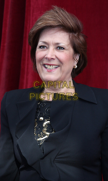 LYNDA BELLINGHAM.'An Audience with Michael Buble' Red Carpet arrivals at the London ITV Studios, South Bank, London, England. .May 3rd 2010 .headshot portrait half length black.CAP/ROS.©Steve Ross/Capital Pictures.