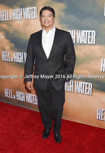 HOLLYWOOD, CA - AUGUST 10: Actor Gil Birmingham arrives at the screening of CBS Films' 'Hell Or High Water' at ArcLight Hollywood on August 10, 2016 in Hollywood, California.