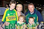 Jack, Lori, Helene, Darragh and Donie O'Connor Beaufort welcoming the victorous Kerry Captain home to Glenbeigh on Tuesday night