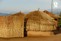 Traditional huts in mountain, Swaziland, Ezulwini Valley (Licence this image exclusively with Getty: http://www.gettyimages.com/detail/73014039 )
