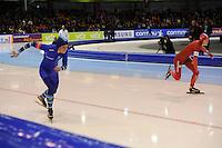 SCHAATSEN: HEERENVEEN: 28-12-2013, IJsstadion Thialf, KNSB Kwalificatie Toernooi (KKT), 500m, Manon Kamminga, Janine Smit, ©foto Martin de Jong