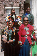 May 6th to 13th, 1985 in Navajo Reserve, AZ. Navajo women wearing traditional ornaments and modern costumes.