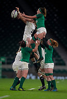 England's Zoe Aldcroft and Ireland's Nichola Fryday compete for a line out<br /> <br /> Photographer Bob Bradford/CameraSport<br /> <br /> 2018 Women's Autumn Internationals - England Women v Ireland Women - Saturday 24th November 2018 - Twickenham - London<br /> <br /> World Copyright &copy; 2018 CameraSport. All rights reserved. 43 Linden Ave. Countesthorpe. Leicester. England. LE8 5PG - Tel: +44 (0) 116 277 4147 - admin@camerasport.com - www.camerasport.com
