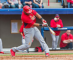 7 March 2015: St. Louis Cardinals first baseman Xavier Scruggs in Spring Training action against the Washington Nationals at Space Coast Stadium in Viera, Florida. The Cardinals fell to the Nationals 6-5 in Grapefruit League play. Mandatory Credit: Ed Wolfstein Photo *** RAW (NEF) Image File Available ***