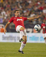 Manchester United FC forward Michael Owen (7) traps the ball. In a Herbalife World Football Challenge 2011 friendly match, Manchester United FC defeated the New England Revolution, 4-1, at Gillette Stadium on July 13, 2011.