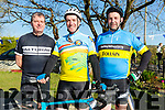 At the Annual Le tour de Ballyfinnane on Saturday were  John Reen, Sean Moriarty and Brendan O'Donoghue
