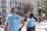 LISBON, PORTUGAL JUNE 06:A general view  during a protest against racism and in favor of respect for life in in Lisbon, on June 6, 2020. <br /> Protesters mourn the death of African-American George Floyd after a Minneapolis police officer knelt on his neck.<br /> (Photo by Luis Boza/VIEWpress)