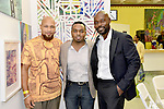 MIAMI, FL - DECEMBER 05: (R-L) Actor Jimmy Jean-Louis, Haiti Counsel General Stephane Gilles and Mecca Grimo Marcelin attends the NE2P Art Beat Miami Chef Creole Celebrity Brunch at the Little Haiti Cultural Center on Saturday December 05, 2015 in Doral, Florida.  ( Photo by Johnny Louis / jlnphotography.com )