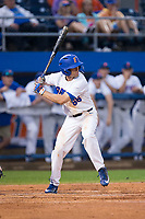 Ryan Larson (66) of the Florida Gators at bat against the Wake Forest Demon Deacons in Game One of the Gainesville Super Regional of the 2017 College World Series at Alfred McKethan Stadium at Perry Field on June 10, 2017 in Gainesville, Florida.  The Gators defeated the Demon Deacons 2-1 in 11 innings.  (Brian Westerholt/Four Seam Images)