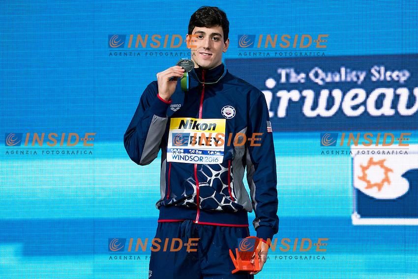 PEBLEY Jacob USA Silver Medal <br /> Men's 200m Backstroke<br /> 13th Fina World Swimming Championships 25m <br /> Windsor  Dec. 11th, 2016 - Day06 Finals<br /> WFCU Centre - Windsor Ontario Canada CAN <br /> 20161211 WFCU Centre - Windsor Ontario Canada CAN <br /> Photo &copy; Giorgio Scala/Deepbluemedia/Insidefoto