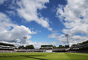 9th September 2017, Lords Cricket Ground, London, England; International test match series, third test, Day 3; England versus West Indies; A general view of Lords, as England Bowler Toby Rolland-Jones bowls to West Indies Jason Holder