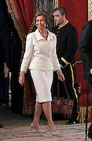 Spain's Queen Sofia during audiences. February 13, 2013. (ALTERPHOTOS/Alvaro Hernandez) /NortePhoto