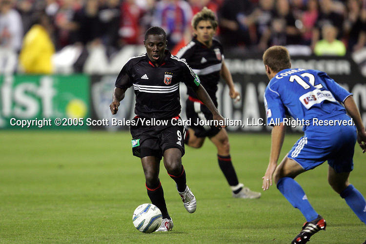 21 May 2005: DC United's Freddy Adu. DC United defeated the Kansas City Wizards 3-2 at RFK Stadium in Washington, DC in a regular season Major League Soccer game. .