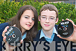 Listowel Community College students Michelle Murphy and Jonathan Casey, who were involved in the production of their own film Two Guys and a Girl...   Copyright Kerry's Eye 2008
