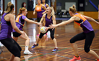 24.08.2017 Silver Ferns Shannon Francois in action during at the Silver Ferns training in Brisbane. Mandatory Photo Credit ©Michael Bradley.