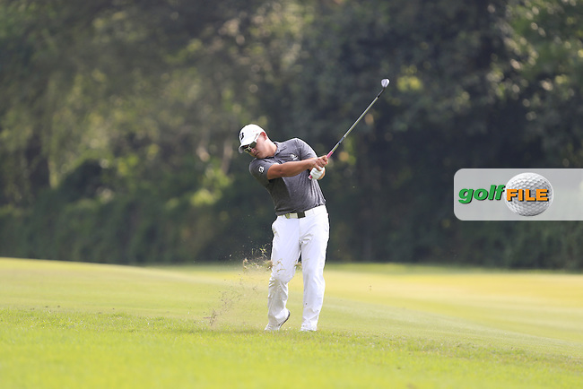 Angelo Que (PHI) on the 11th fairway during Round 1 of the 2015 UBS Hong Kong Open at the Hong Kong Golf Club in The Netherlands on 2/10/15.<br /> Picture: Thos Caffrey | Golffile